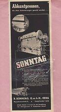 GERA, Werbung 1936, R. Sonntag GmbH Abkantpressen Maschinen-Fabrik