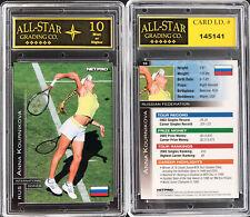 2003 Netpro Tennis #10 Anna Kournikova RC Rookie ASG Graded 10 MINT