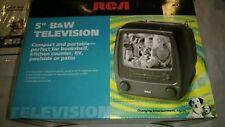 "Vintage RCA 5"" Black & White Portable TV BRAND NEW"