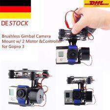 NEU CNC FPV BGC 2 Axis Brushless Gimbal+Controller f. GoPro 3 Kamera DJI DHL BR