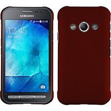 Custodia Rigida Samsung Galaxy Xcover 3 - gommata rosso + pellicola protettiva