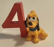 Ships Free! Disney Baby Pluto 4 th Birthday Cake Topper by Applause