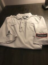 Footjoy Fj Titleist Tour Patch Tour Issue Golf Shirt