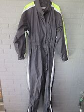 BMW BLACK FLUORESCENT GREEN REFLECTIVE MOTORCYCLE RAIN SUIT M OR L FOUL WEATHER