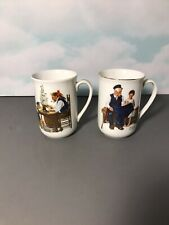 Norman Rockwell Museum Coffee Mugs Set of Two (2)- 1982