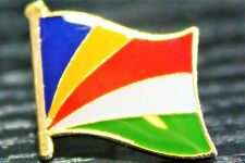 SEYCHELLES Metal Flag Lapel Pin Badge *NEW*
