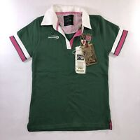 The Heritage Collection Lansdowne Pink Green Ireland Irish Polo Women Sz 10 NWT