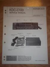 Kenwood Service Manual~KDC-C100 CD Changer/Player~Car Audio~Original Repair