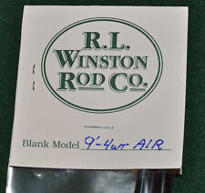 Winston Air 4 Wt 9 Ft Fly Rod Blank & Kit with Free Shipping!