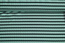 Rippenjersey Jersey Stoff mint grün gestreift schwarz #01096