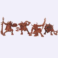 Minotaurus. Soft Plastic 54 mm Tehnolog. Set of 4 toy minotaur