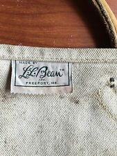 Vintage LL Bean Cursive Letter Canvas and Leather Firewood/log Carrier/Caddy