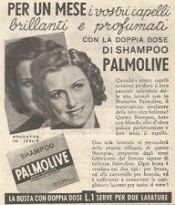Y3003 Shampoo PALMOLIVE - I vostri capelli... - Pubblicità del 1939 - Old advert