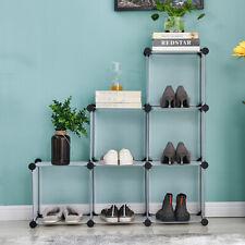 Diy 6 Cubes Book Cabinet Bookshelf Storage Display Toy Organizer Room Furniture