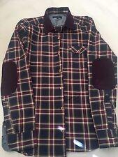 Brand new authentic $240 Ted Baker shirt, velvet collar & elbows