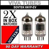 Brand New Gain Matched Pair (2) Sovtek 6N1P / 6N1-P-EV Vacuum Tubes