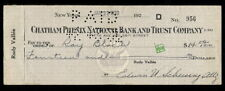RAY BLOCH JAZZ PIANIST AUTOGRAPHED CHECK 1930 ED SULLIVAN SHOW JACKIE GLEASON