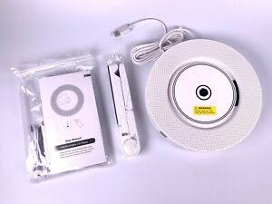 Portable CD Player with Bluetooth, FM Radio, Wall Mountable CD Music Player