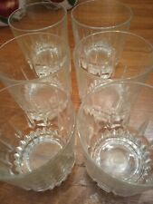 Set Of Six Arcoroc France Lancer On The Rocks Whiskey Glasses 3 1/2 In 10 Oz