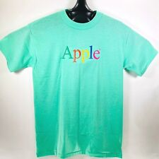 Vintage Apple Computers Macintosh T-Shirt Embroidered Size XL Single Stitch