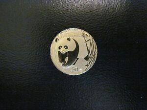 2002 China 50 Yuan gold Panda, 1/10 oz., BU, No Reserve