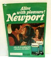 Vintage 1975 Newport Cigarettes Magazine Print Advertising Ad Pleasure Menthol