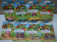 Hot Wheels Super Mario conjunto completo de 8 Coches Nuevo y Sellado Envío Rápido
