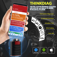 THINKDIAG Automotive OBD2 Scanner Bluetooth ABS SRS ECU Coding Diagnostic Tool