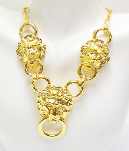 """Kenneth Jay Lane  Lion Head Necklace  18"""""""