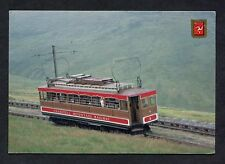 View of an Electric Train, Snaefell Mountain Railway. Stamp/Postmark - 1C985