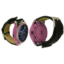 Skinomi Pink Carbon Fiber Skin+Screen Protector for Samsung Gear S3 Classic