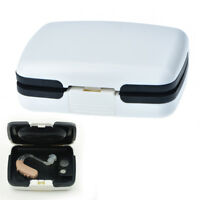 Portable Bte Hearing Aid Aids Storage Case Carrying Box Audiophone Holder RK