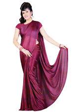 Trendofindia Purple Bollywood Sari Viscose
