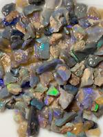 Australian Rough Opal parcel 13mm to chip bright multi fires 180ts #RV259 Video