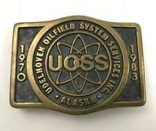 VINTAGE UOSS Undelhoven Oilfield System Services Belt Buckle Prudhoe Bay Alaska