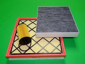 Ölfilter Luftfilter Aktivkohle Pollenfilter Chevrolet Cruze 1.4 Benziner
