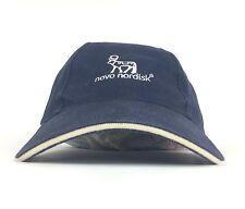 Novo Nordisk Navy Blue Baseball Cap Hat Adjustable Strapback Adult Size Cotton
