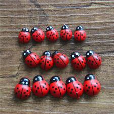 10x Pop Ladybug Garden Ornaments Scenery Craft For Plant Pot Fairy De JR