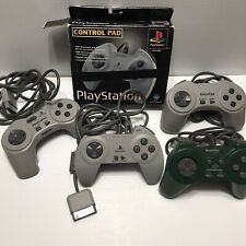 Sony Playstation PS1 Game Pad Controller Lot Of 4 For Game Console