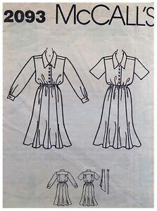 Vintage LADIES TEA DRESS Sewing Pattern SIZE 10/12/14 (M2093)