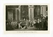 """""""DAVID : Sacre de Napoléon 1er"""" Phototypie originale BRAUN CLEMENT & Cie 1890"""