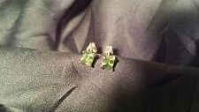 AWESOME 14K YELLOW GOLD PERIDOT 0.5 CTW STUD EARRINGS