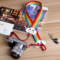 Rainbow Universal DSLR SLR Camera Shoulder Strap Neck Strap Hand Grip Sling New
