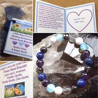 Restful Sleep Power Bead Bracelet Healing Gemstone Dream Recall  Size Choice