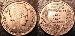 France - IIIème République - 5 francs Bazor 1933 petit pont TTB SUP ! F.335/2