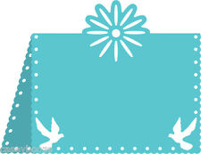 Cheery Lynn Designs Die ~ Flower & Dove Placecard ~ B299 ~ Peace ~ New Out