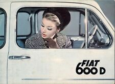 Fiat 600 D 1964-66 UK Market Sales Brochure Saloon Convertible Multipla