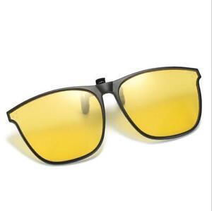 Mens Women Clip on Sunglasses Polarized Flip up Glasses Driving UV400 Protection
