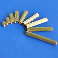 Threaded Metric M2 Brass Female-Female Standoff Spacer, Length 2mm~25mm.