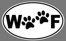 Woof Paws Sticker Oval DECAL DOG CAT RESCUE PET LOVER WOOF DECAL